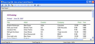 Free reporting xml data using crystal reports premium content.