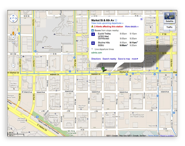 Live Transit Updates in Google Maps - News - DMXzone COM