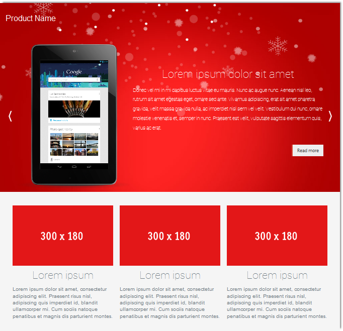 christmas product landing page template templates dmxzone com. Black Bedroom Furniture Sets. Home Design Ideas