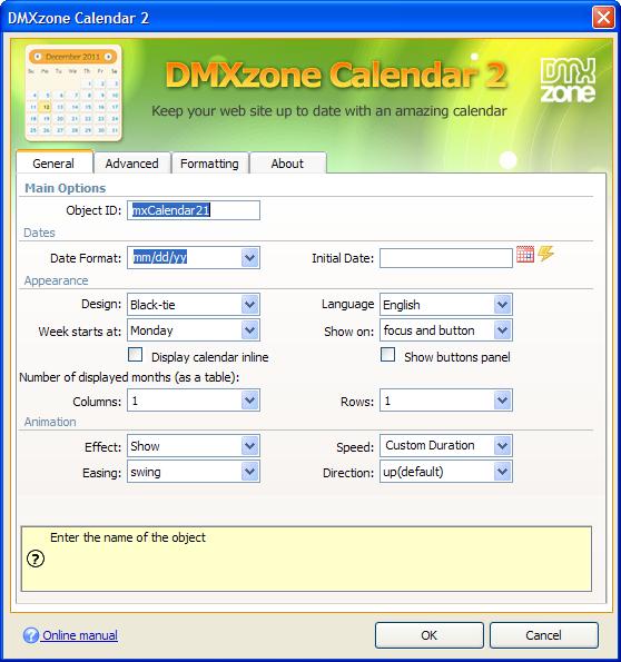 Dmxzone calendar 2 extensions dmxzone screen shot external link maxwellsz