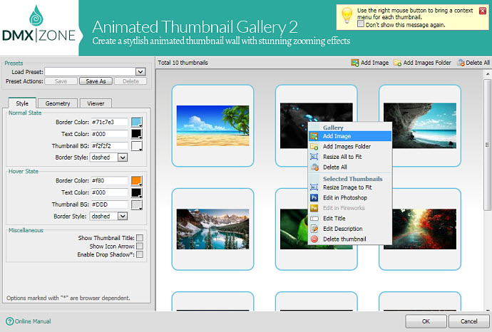 thesis not resizing thumbnails If the image contains an embedded thumbnail image, this method retrieves the embedded thumbnail and scales it to the requested size if the image does not contain an embedded thumbnail image, this method creates a thumbnail image by scaling the main image.