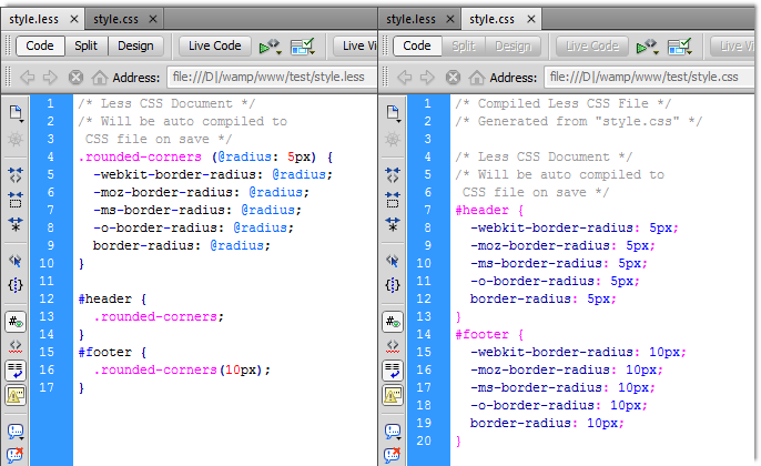 DMXzone LESS CSS Compiler - Extensions - DMXzone COM
