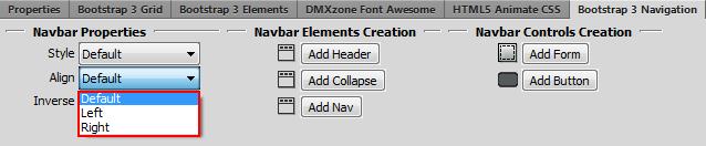 DMXzone Bootstrap 3 Navigation