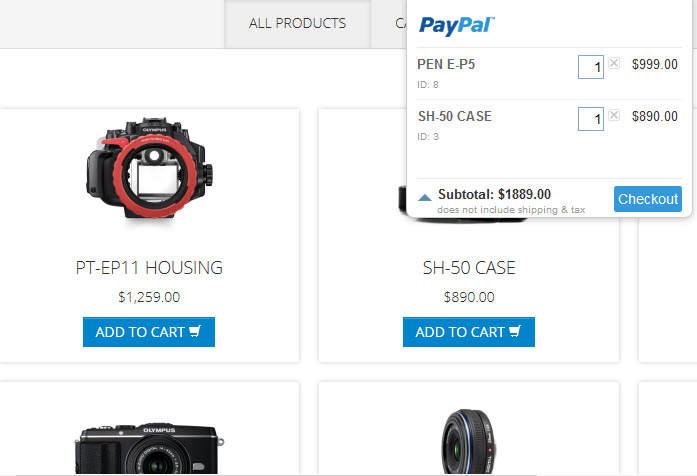 18dcb3e5b49a Different designs for the shopping cart - Fully customizable through the  CSS
