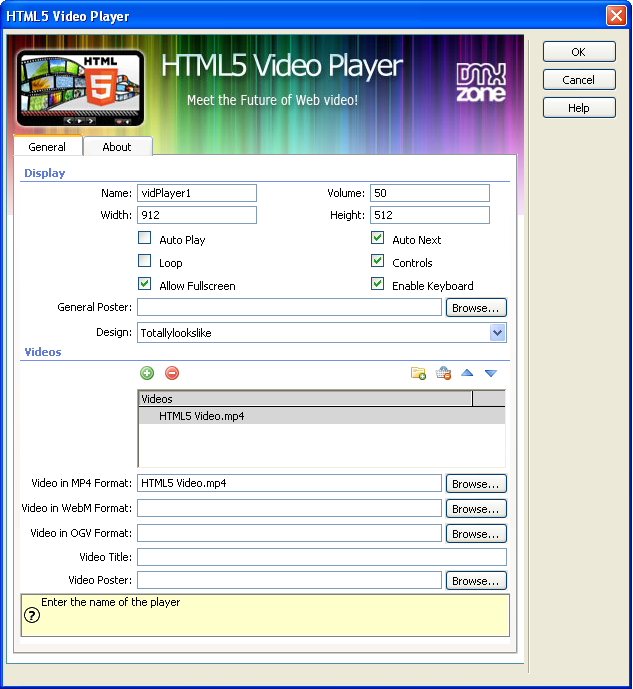 for laptop full work HTML5 Video Player DW Extension 1 0 0