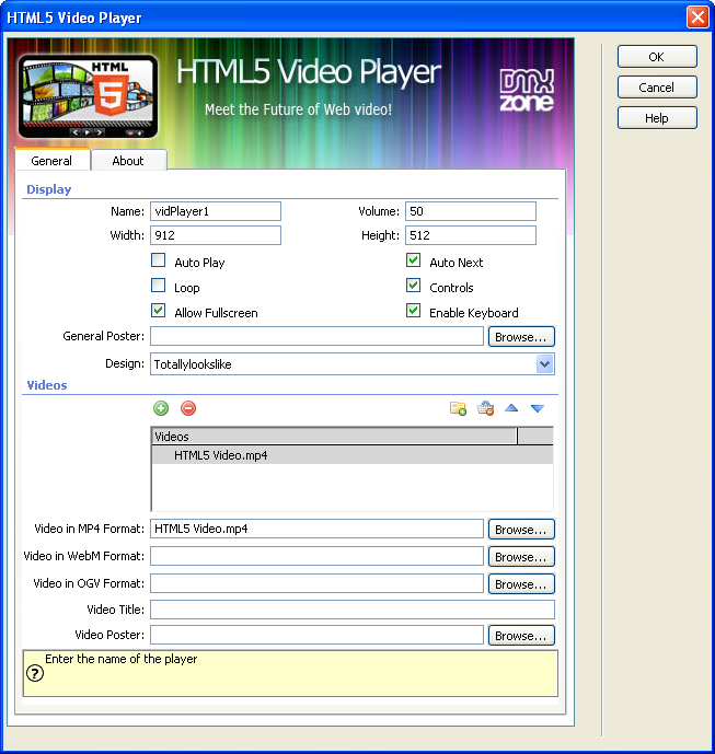 More awesome features come to html5 video player dmxzone com for Html5 video player template