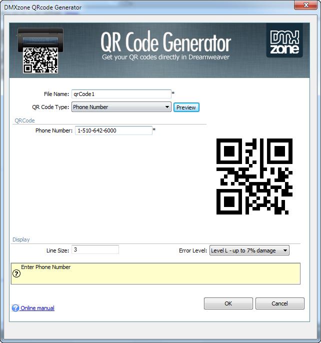 DMXzone QRcode Generator