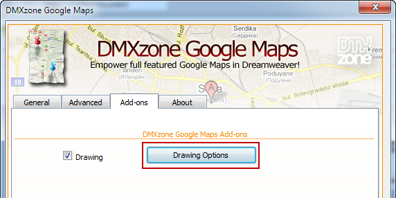 Google Maps Drawing Add-on