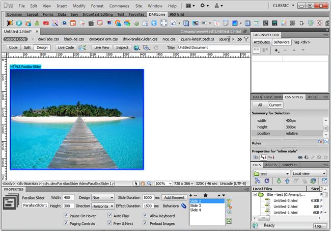 HTML5 Parallax Slider