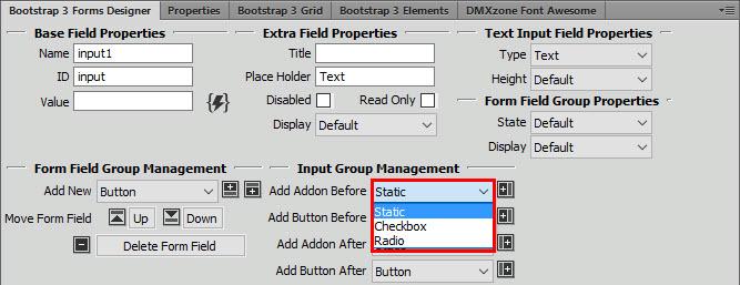 Dmxzone Bootstrap 3 Forms Designer Extensions Dmxzone