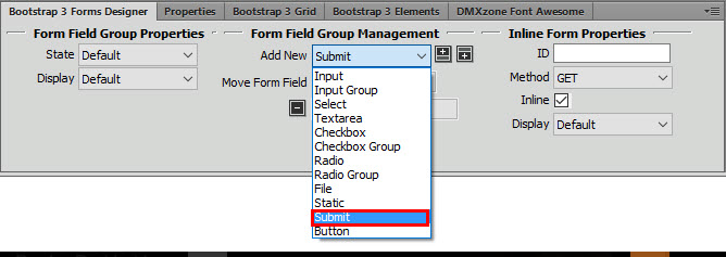 how to add a cancel button in formidble forms