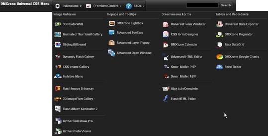 Universal Css Navigation Menu Extensions Dmxzone