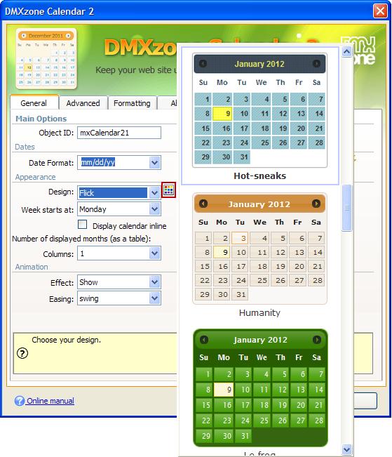 Dmxzone Calendar 2 Extensions Dmxzone