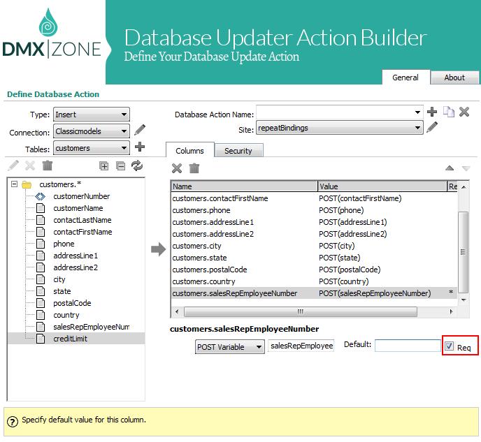 DMXzone Database Updater ASP