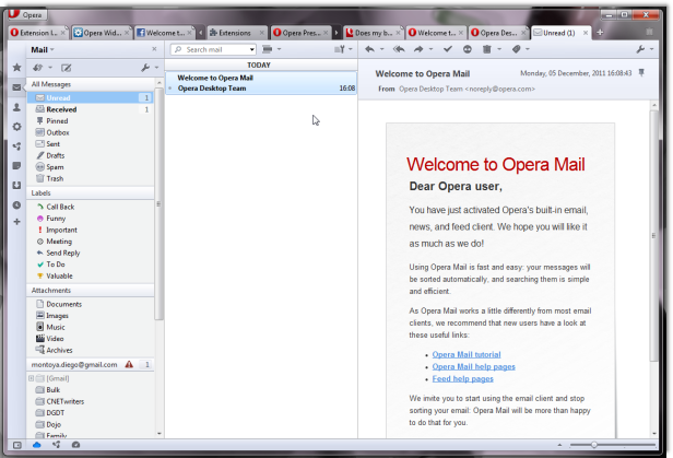 New Opera Tweaks Threads, Mail Client - News - DMXzone COM