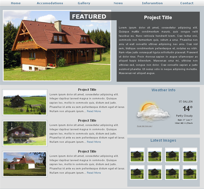 accommodation website template - templates