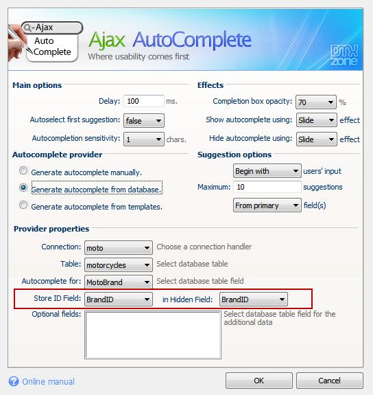 Ajax AutoComplete