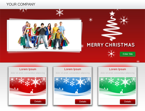 christmas landing page template templates dmxzone com. Black Bedroom Furniture Sets. Home Design Ideas
