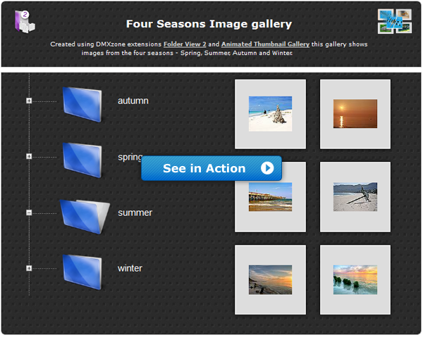 Animated Thumbnail Gallery & Folder View 2 Improved and on