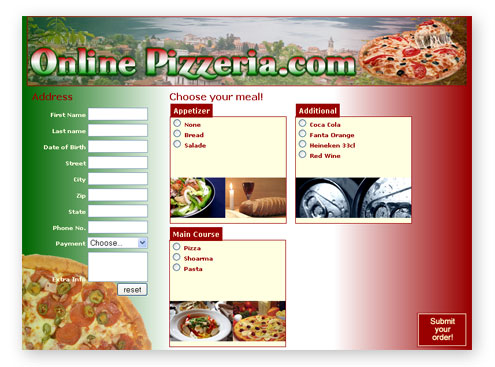Creating An Online Food Order Form  Premium Content  Articles