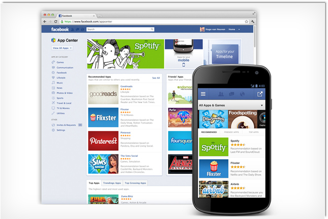 Facebook App Center Takes on Competition with Web Apps