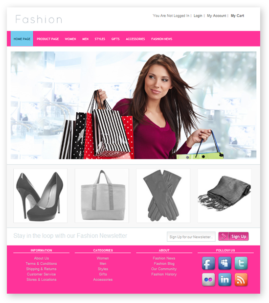 Fresh And Free Fashion Store Template Dmxzone Com