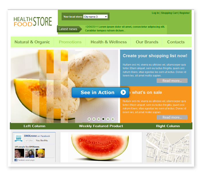 Health Food Store Template Dmxzone Com