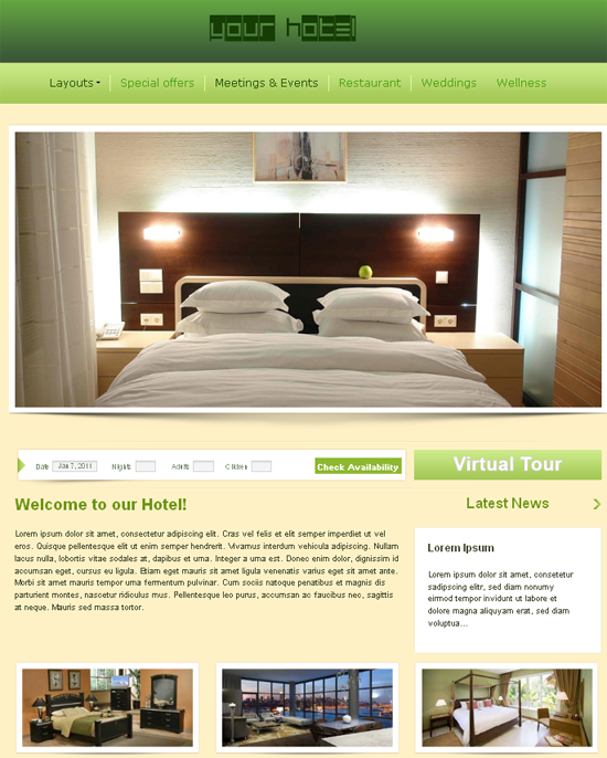 Css Templates Hotels Hotel Template