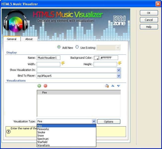 HTML5 Music Visualizer Add-On
