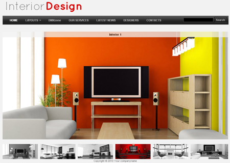 Captivating Interior Design Template Preview