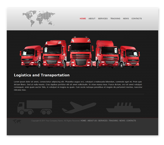 Transport and Logistics Template - Templates - DMXzone.COM