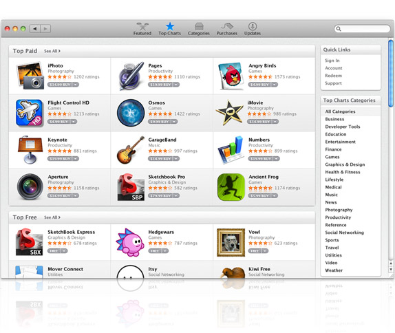 how to see top grossing in app store