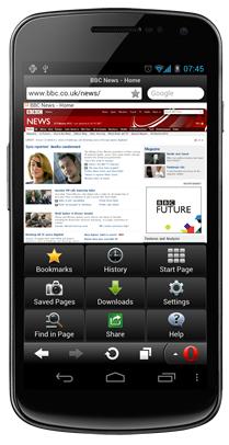 Opera Mini 7 for Android - News - DMXzone COM