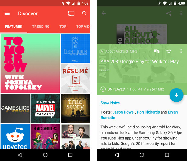 enjoyable interface to the android podcasting experience its jam packed with features including cross device syncing of your feeds and preferences
