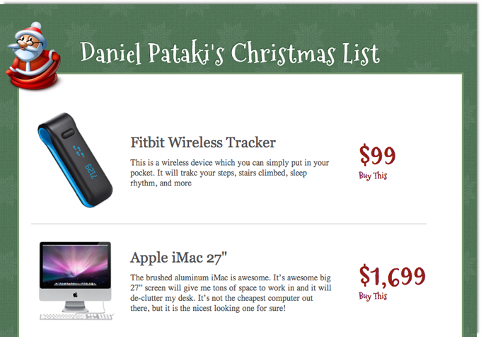create a christmas wish list with php articles dmxzone com