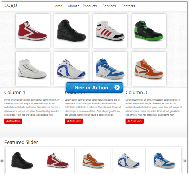 5b28c6da4b09 HTML5 3D Flipping Gallery Shoes Store Demo - DMXzone.COM