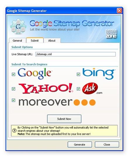 Google Sitemap Tool: Google Sitemap Generator 2