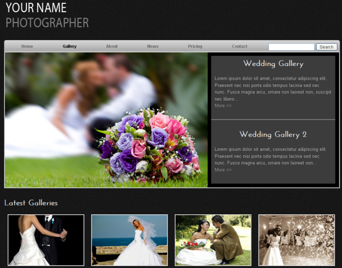 Wedding Photographer Free Template