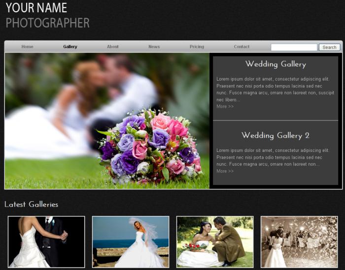 wedding photographer free template dmxzone com
