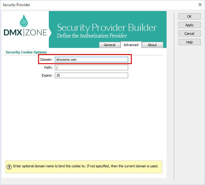 DMXzone Security Provider PHP