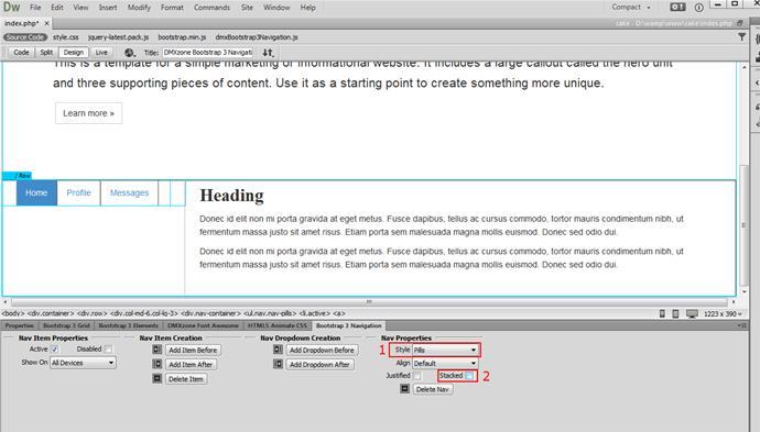 Create a Vertical Sidebar Nav - Videos - DMXzone COM