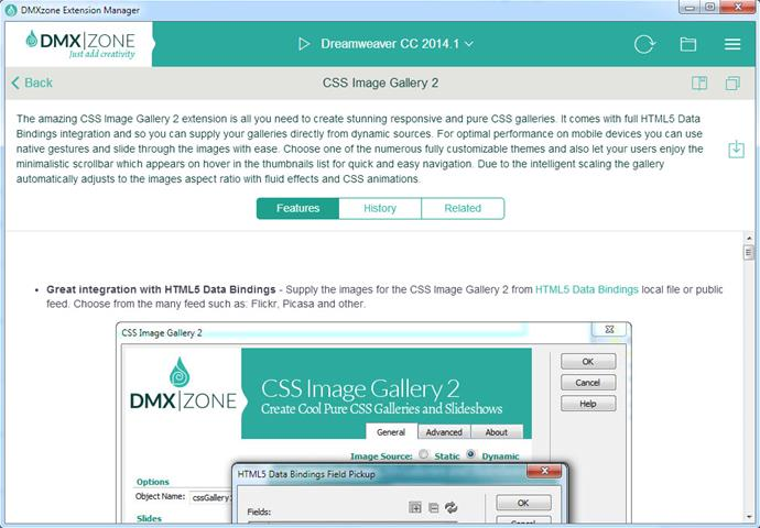 DMXzone Extension Manager for Dreamweaver - Extensions