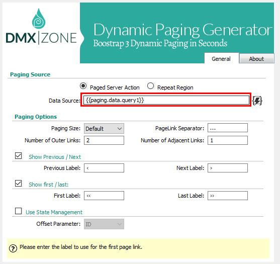 Bootstrap 3 Dynamic Paging Reference - Articles - DMXzone COM
