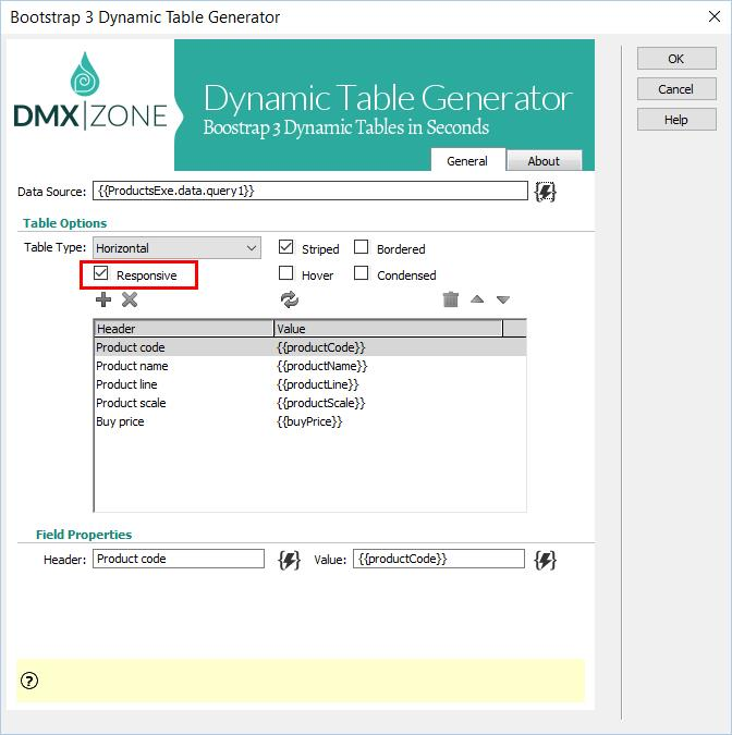 Bootstrap 3 Dynamic Table Generator 2
