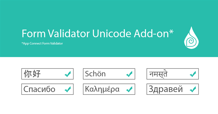 Validate Every Character with Form Validator Unicode Add-on
