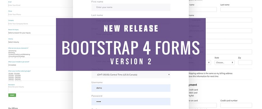 Bootstrap 4 Forms Version 2 Released! - DMXzone COM